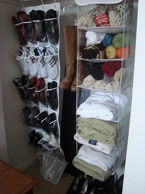 Hanging shoe storage